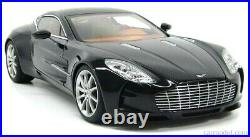 118 Scale Aston Martin One-77 2009 Pearl Black AutoArt Diecast Model Rare 70241