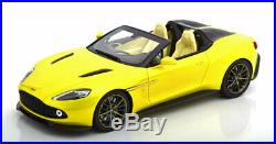 118 True Scale Aston Martin Vanquish Zagato Speedster yellowmetallic