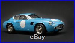 1961 Aston Martin DB4 GT Zagato Racing Version Blue by CMC in 118 Scale CMC140