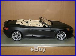 1/18 scale Tecnomodel Aston Martin Vanquish Volante, matt black
