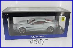 AUTOart 118 scale Aston Martin V12 Vanquish Coupe 2015(Skyfall Silver) #70246