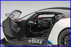 AUTOart 70261 Aston Martin Vulcan (Stratus White with Blue Stripes) 118TH Scale