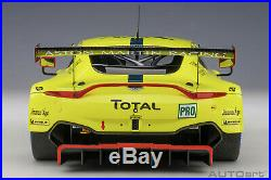 AUTOart 81808 Aston Martin Vantage GTE Le Mans Pro 2018 #95 118 Scale