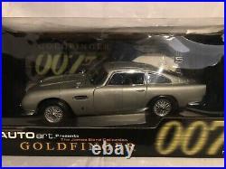 AUTOart James Bond Aston Martin DB5 With Gadgets Goldfinger 118 Scale DieCast