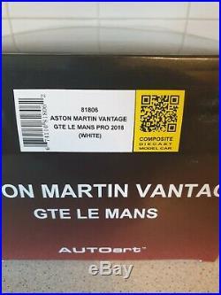 AUTOart MODELS ASTON MARTIN VANTAGE GTE LE MANS 1/18 SCALE MODEL CAR 81806