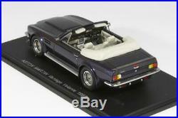 Aston Martin Vantage Volante 1987 Dark Blue Spark 1/43 Scale Model Car Toy Car