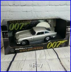 Autoart 1/18 Scale Aston Martin DB5 Silver 007 James Bond Goldfinger IN BOX