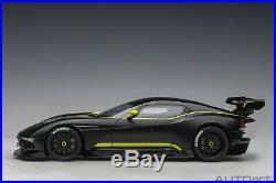 Autoart ASTON MARTIN VULCAN MATT BLACK/LIME GREEN STRIPES 1/18 Scale In Stock