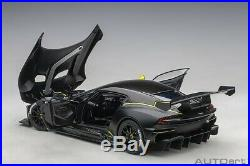 Autoart ASTON MARTIN VULCAN MATT BLACK/LIME GREEN STRIPES 1/18 Scale Preorder