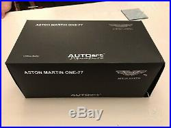 Autoart Signature Aston Martin One-77 Villa DEste Blue 118 Scale