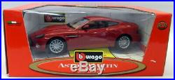 Burago 1/18 Scale Diecast 34063 Aston Martin V12 Vanquish Red Model Car