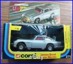 Corgi 271 James Bond Aston Martin 136 scale Boxed. Ex shop stock