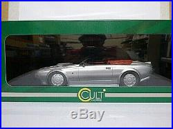 Cult Models Aston Martin V8 Zagato spyder 1987 silver 1/18th scale