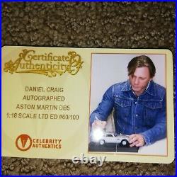 Daniel Craig Autographed Aston Martin DB5 Rare James Bond 118 Scale Die-Cast