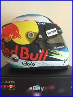 Daniel Ricciardo Aston Martin Red Bull 2018 1/2 Scale Arai Helmet