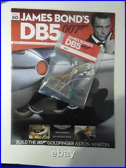JAMES BOND 007 ASTON MARTIN DB5 18 SCALE BUILD GOLDFINGER PART 80 Mint