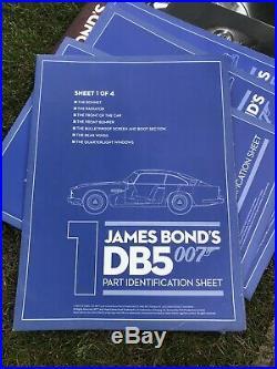 James Bond 007 Aston Martin Db5 18 Scale Build Goldfinger Job Lot/bundle