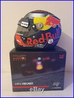 Max Verstappen 2018 Aston Martin Red Bull F1 1/2 Scale Arai Helmet VERY RARE