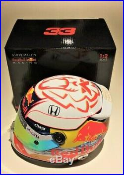 Max Verstappen Aston Martin Red Bull Racing 2019 Scale Helmet 1/2