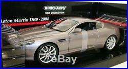 Minichamps 1/18 Scale diecast 150 137320 Aston Martin DB9 Silver
