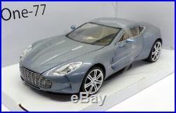 Mondo 1/18 Scale Model Car 501052 Aston Martin One-77 Lgt. Blue