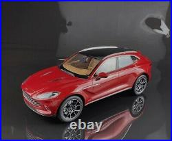 New Arrival Top Speed 118 Scale Aston Martin DBX Hyper Red Car Model With Case