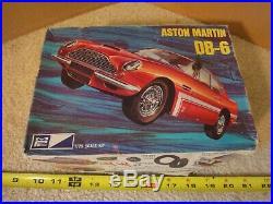 Rare! Vintage MPC 1/25 scale Aston Martin DB-6 model car kit