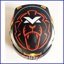Signed Max Verstappen 1/2 Scale Helmet Aston Martin Red Bull Racing F1