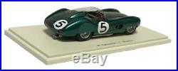 Spark 43LM59 Aston Martin DBR1 #5 Le Mans Winner 1959 1/43 Scale
