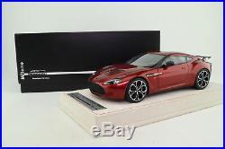 Tecnomodel 118 Scale 2011 Aston Martin V12 Zagato Volcano Red Excellent Boxed