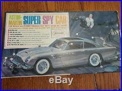 Vintage Aston Martin Super Spy Car By Aurora 1965 Old W Box 1/25 Scale Model