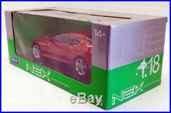Welly 1/18 Scale Model Car 18045W Aston Martin DB9 Coupe Red